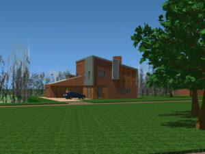 Een vrijstaande moderne villa op landgoed Nieuwenhuis in De Mortel